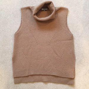 Madewell sleeveless turtleneck sweater, tan, sz M